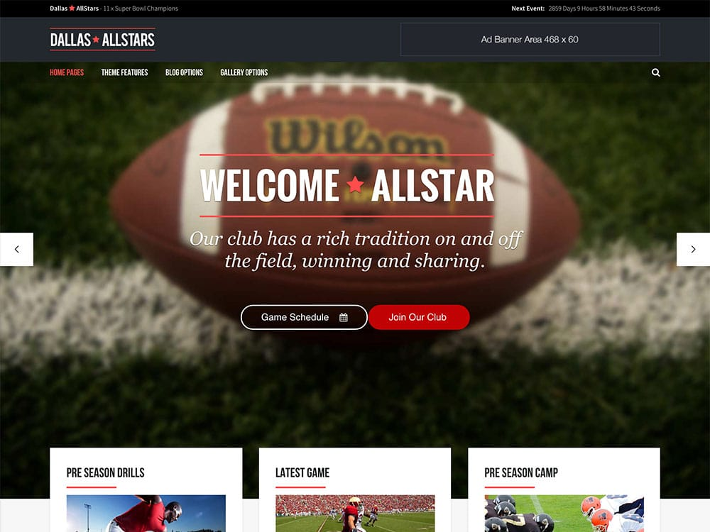 AllStar - 31+ Nice WordPress Themes For Sports [year]