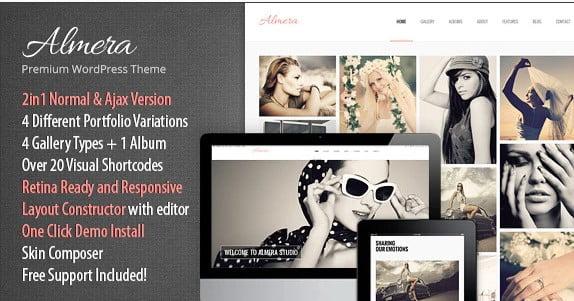 Almera-2 - 36+ Nice WordPress Model Agency Themes [year]