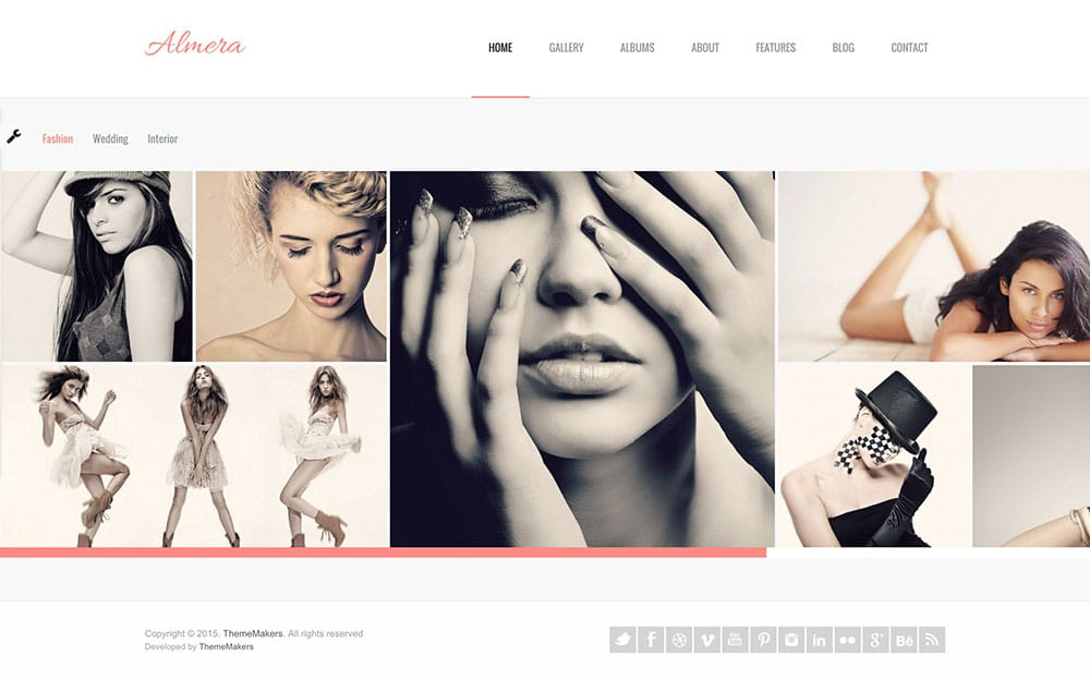 Almera - 36+ Top Quality WordPress Themes For Photography [year]