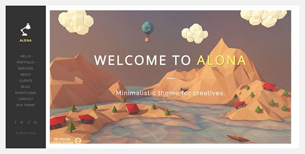 Alona - 31+ Awesome WordPress Themes For Artists [year]