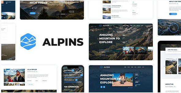 Alpins - 35+ Nice Hunting and Weapon For WordPress Themes [year]