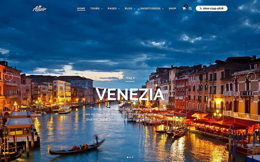 Altair - 36+ Amazing Travel, Agencies, Hotels WordPress Themes [year]