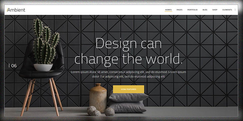 Ambient - 36+ Top Quality WordPress Themes For Interior Design [year]