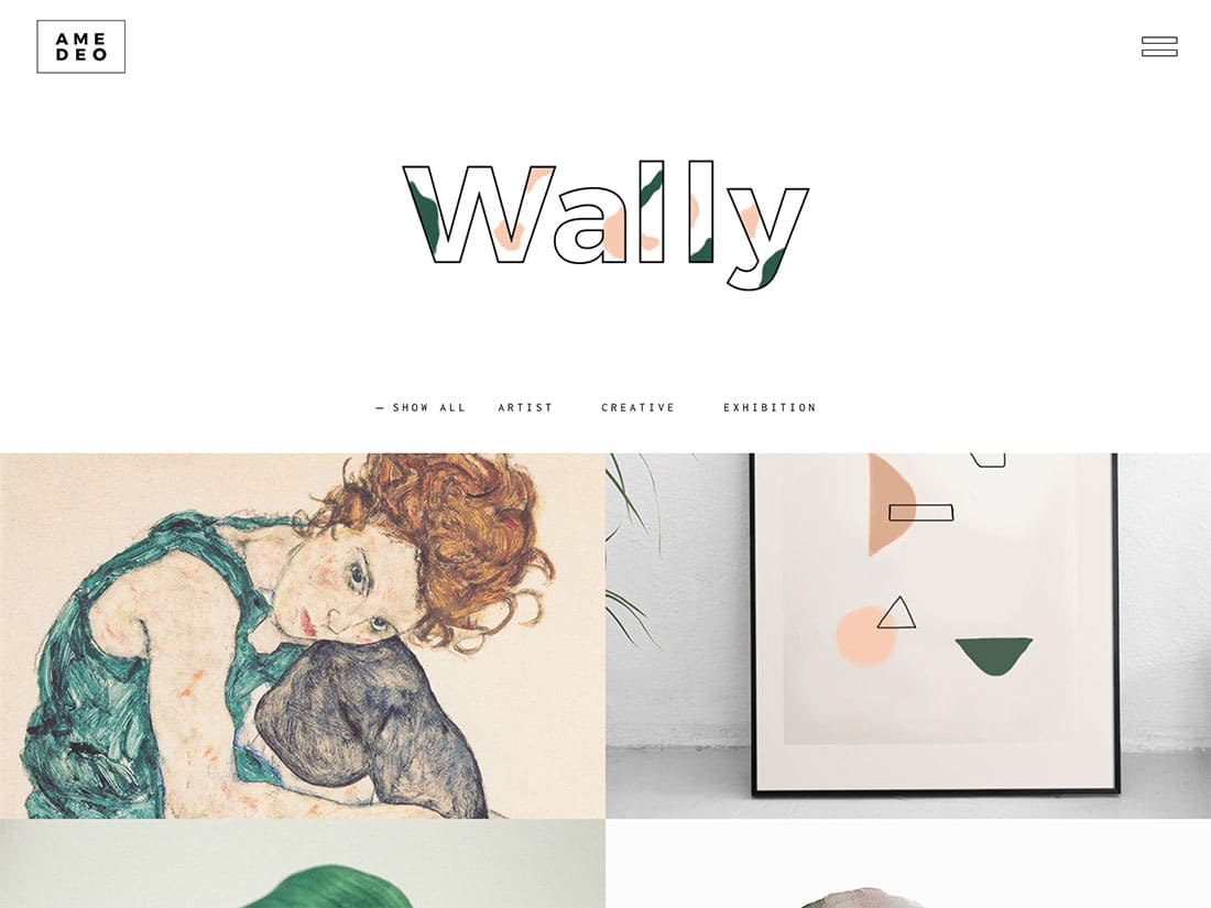 Amedeo-1 - 31+ Awesome WordPress Themes For Artists [year]