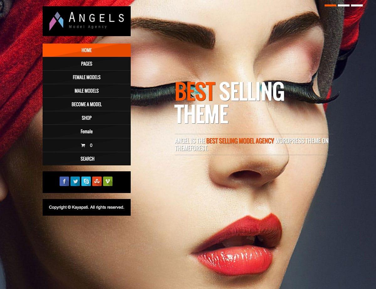 Angel-1 - 36+ Nice WordPress Model Agency Themes [year]