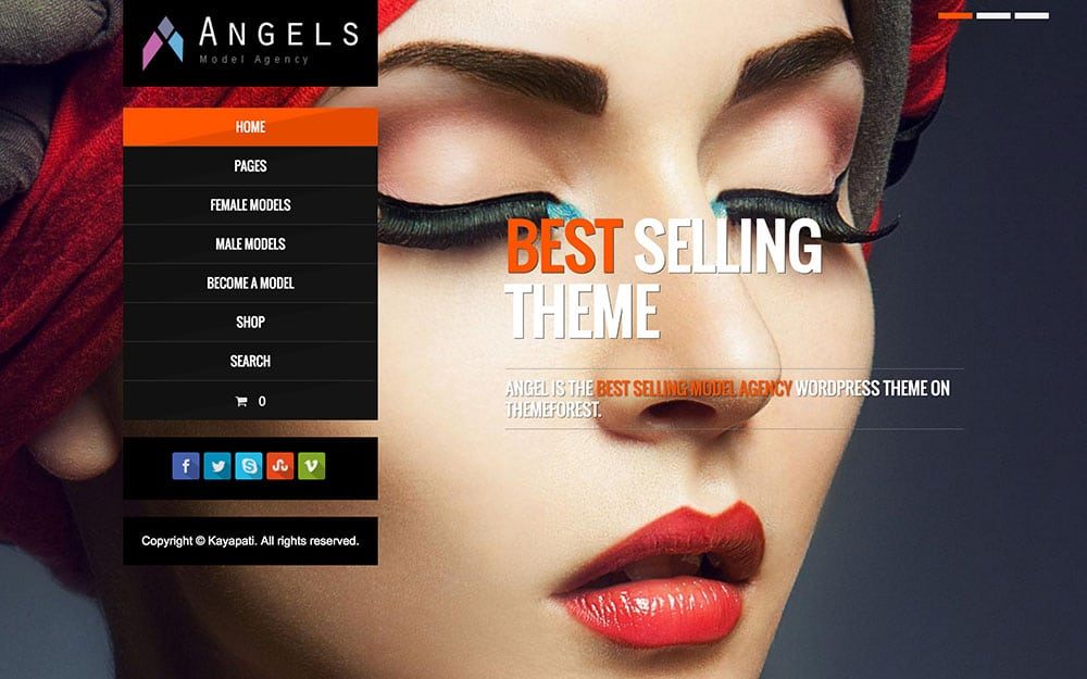 Angel - 36+ Nice WordPress Themes For Fashion Blog [year]