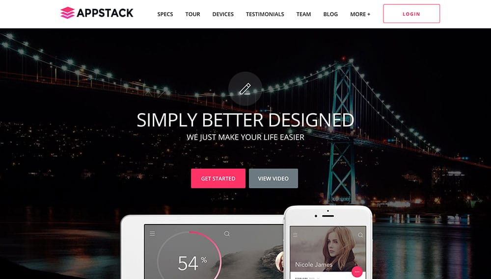 AppStack - 40+ Amazing WordPress App Showcase Themes [year]