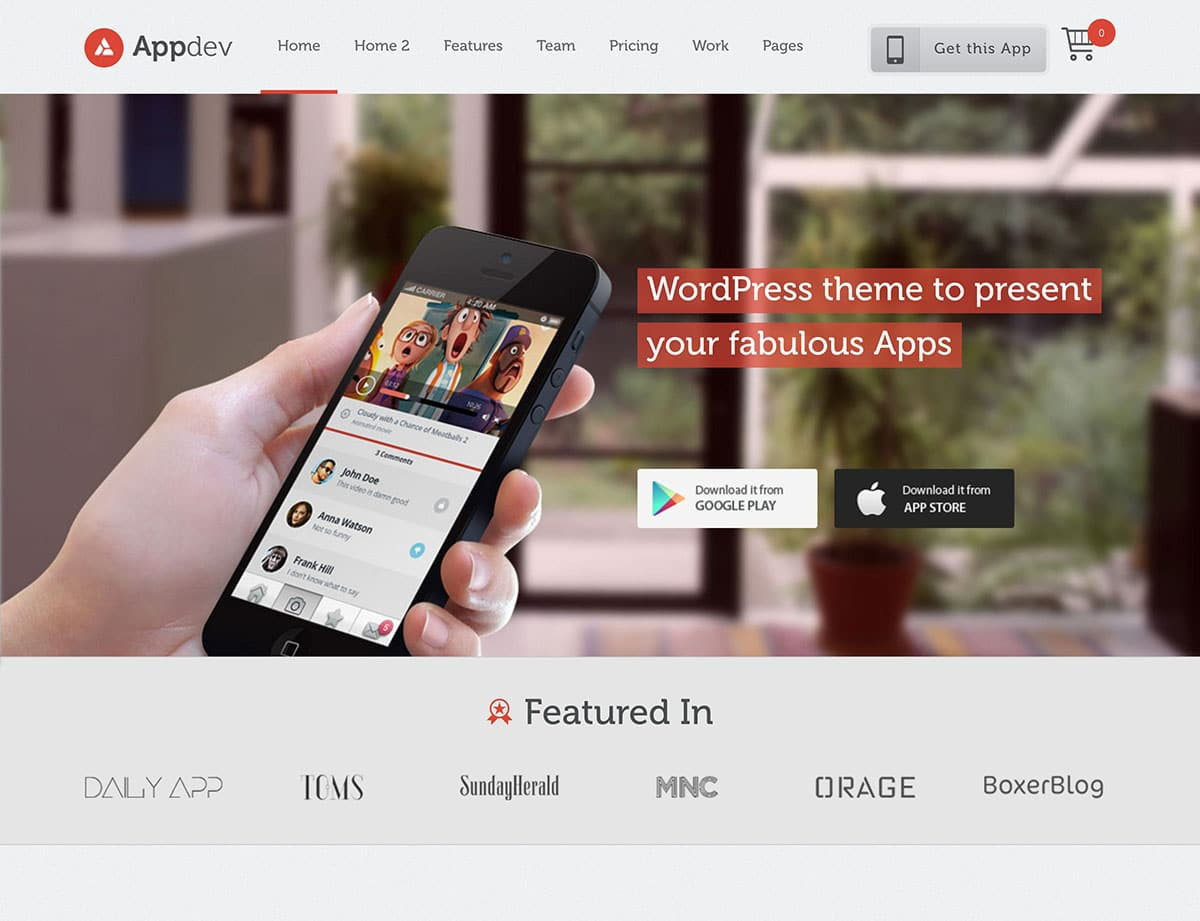 Appdev - 40+ Amazing WordPress App Showcase Themes [year]
