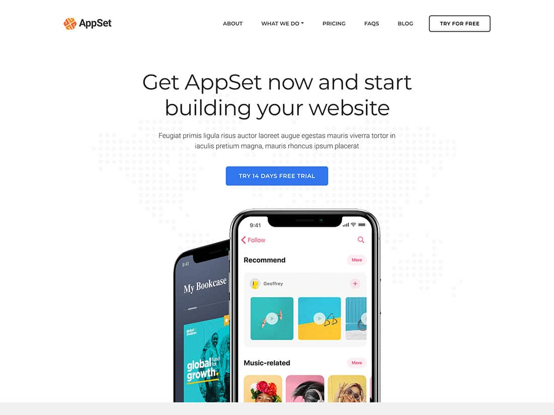Appset - 40+ Amazing WordPress App Showcase Themes [year]