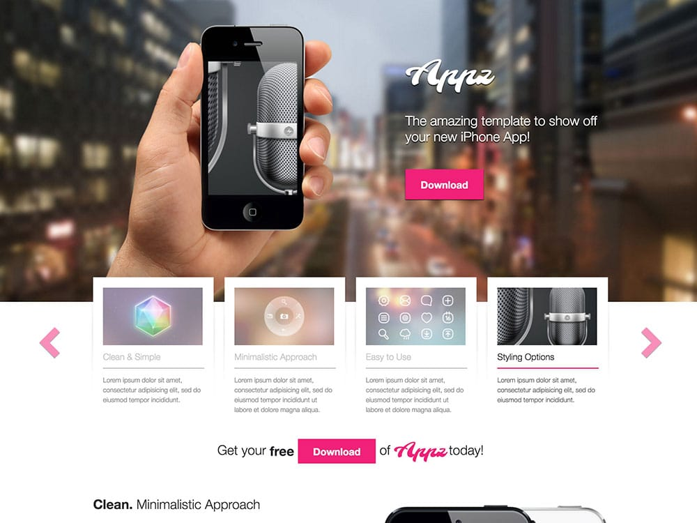 Appz - 46+ Best Free WordPress One Page Themes [year]