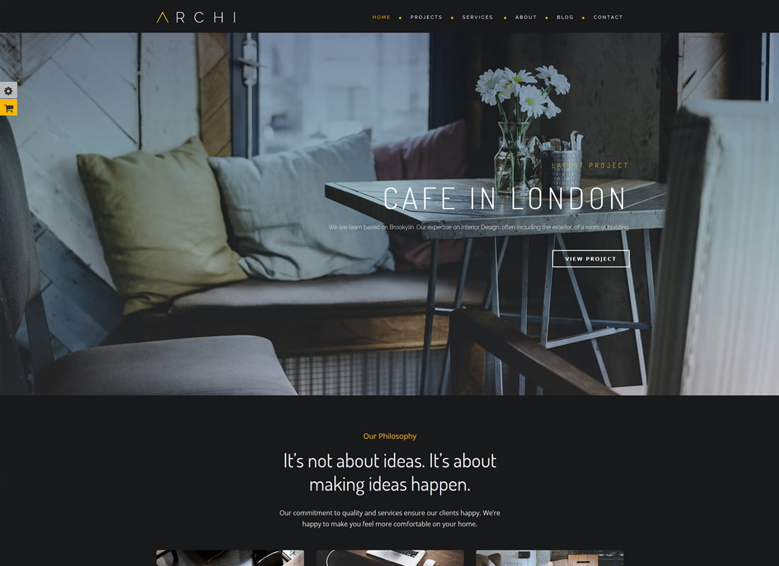 Archi - 36+ Top Quality WordPress Themes For Interior Design [year]