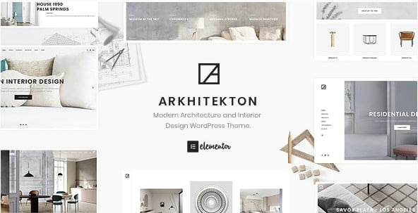 Arkhitekton - 30+ Top Quality WordPress Themes For Interior Design [year]