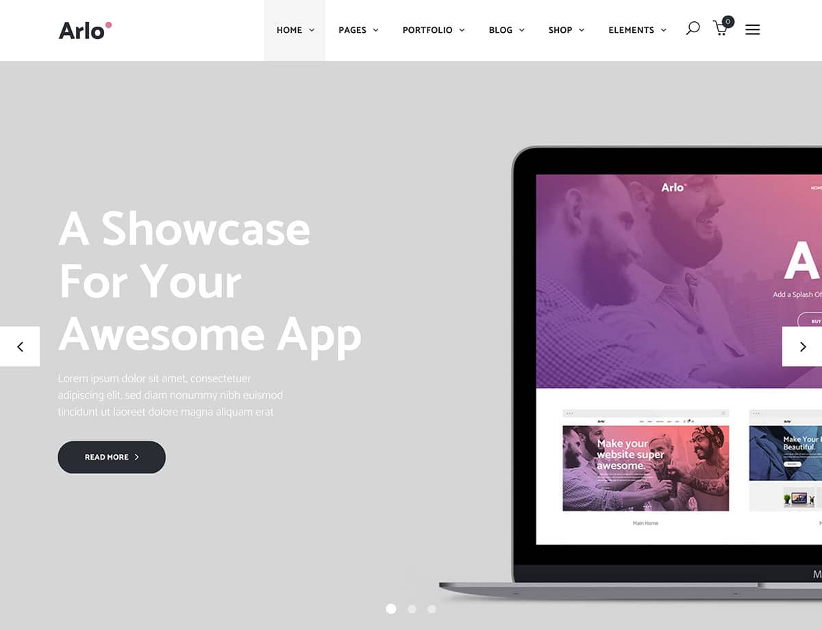 Arlo - 40+ Amazing WordPress App Showcase Themes [year]