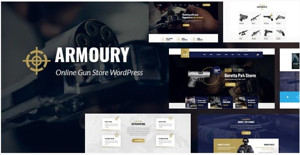 Armoury - 35+ Nice Hunting and Weapon For WordPress Themes [year]