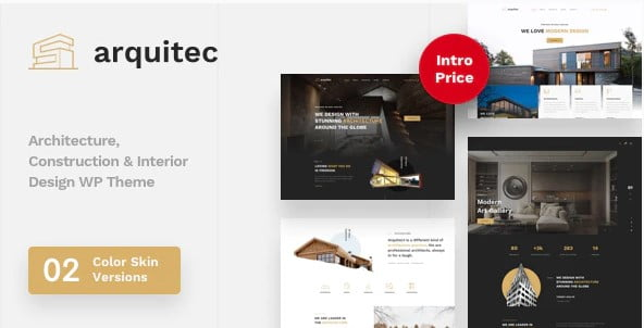 Arquitec - 36+ Awesome Plumbers WordPress Themes [year]