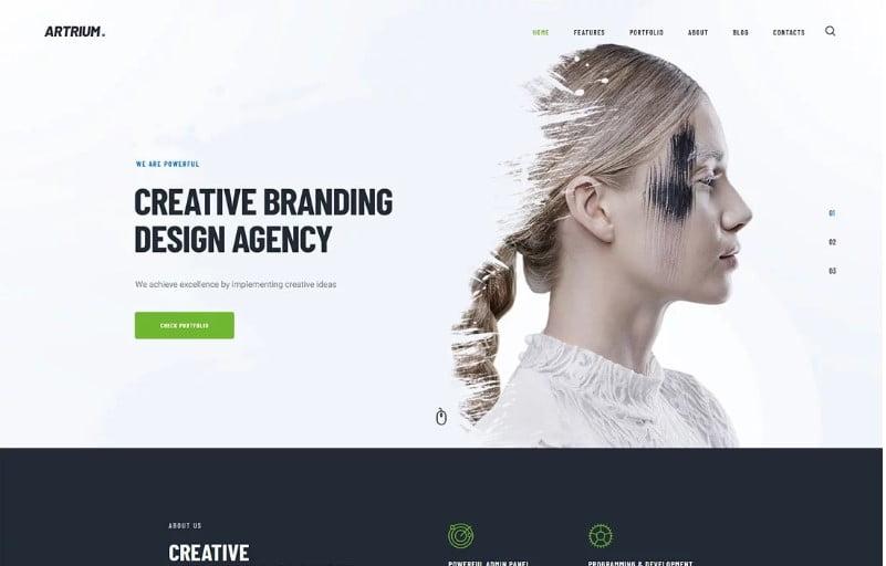 Artrium - 36+ Awesome Minimalist WordPress Themes [year]
