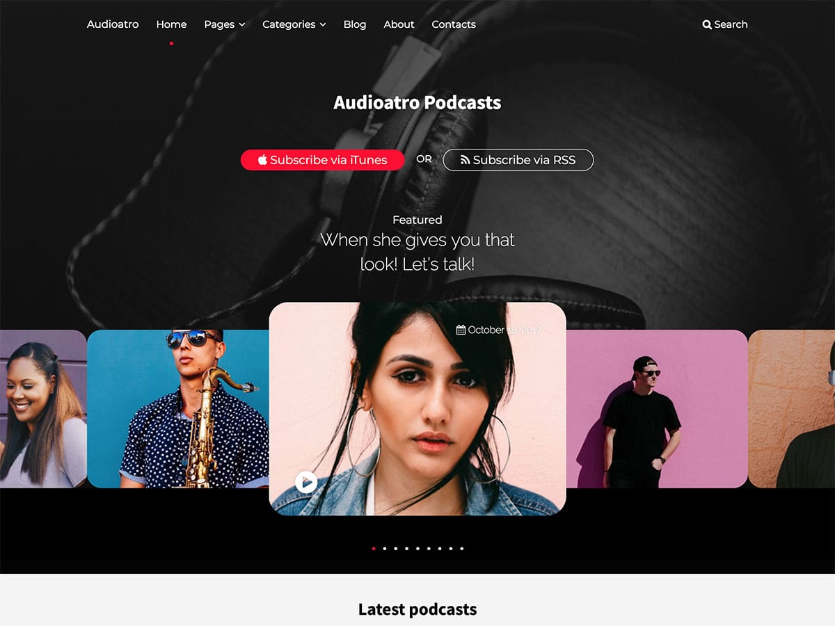 Audioatro - 36+ Awesome WordPress Themes For Podcast [year]