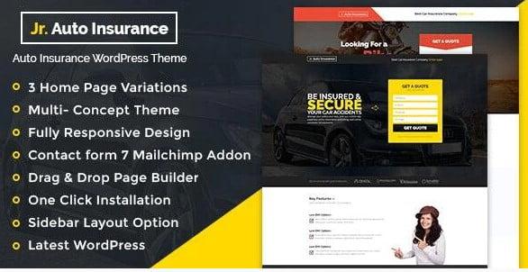 Auto-Insurance - 36+ Amazing WordPress Insurance Themes [year]
