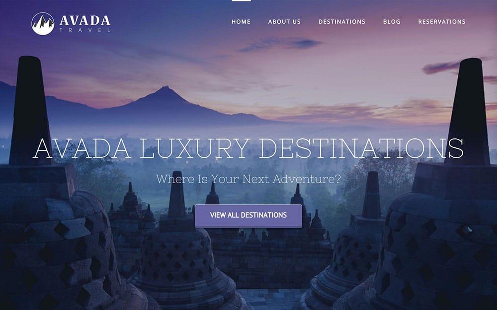 Avada - 36+ Amazing Travel, Agencies, Hotels WordPress Themes [year]