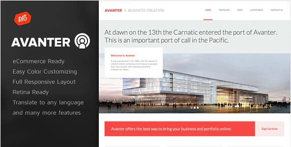 Avanter - 36+ Top Quality WordPress Themes For Construction Company [year]