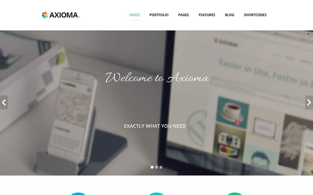 Axioma - 41+ Amazing WordPress Parallax Themes For You [year]