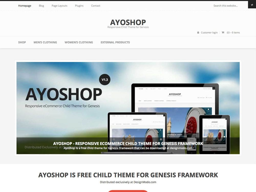 AyoShop - 51+ Awesome Free WordPress Themes For Ecommerce [year]