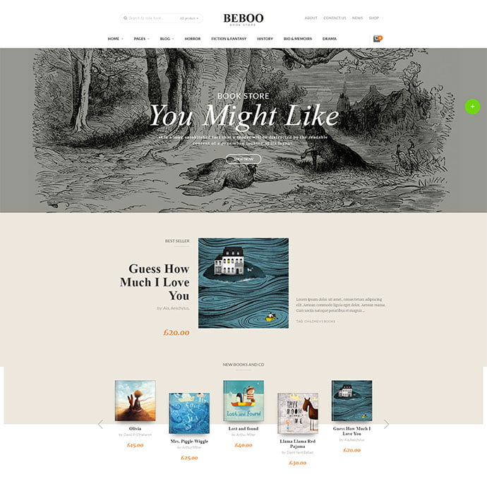 BEBO - 31+ Nice Librarian & Bookseller WordPress Themes [year]