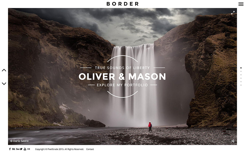 BORDER - 36+ Top Quality WordPress Themes For Photography [year]