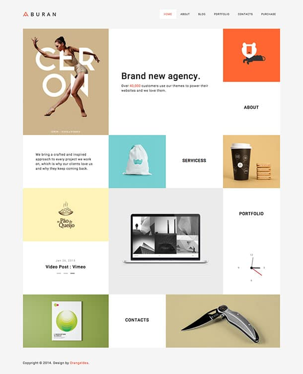 BURAN - 40+ Awesome WordPress Themes For Creative Agency [year]