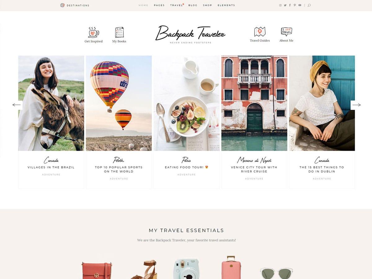 Backpack-Traveler - 30+ Awesome Travel Blog WordPress Themes [year]