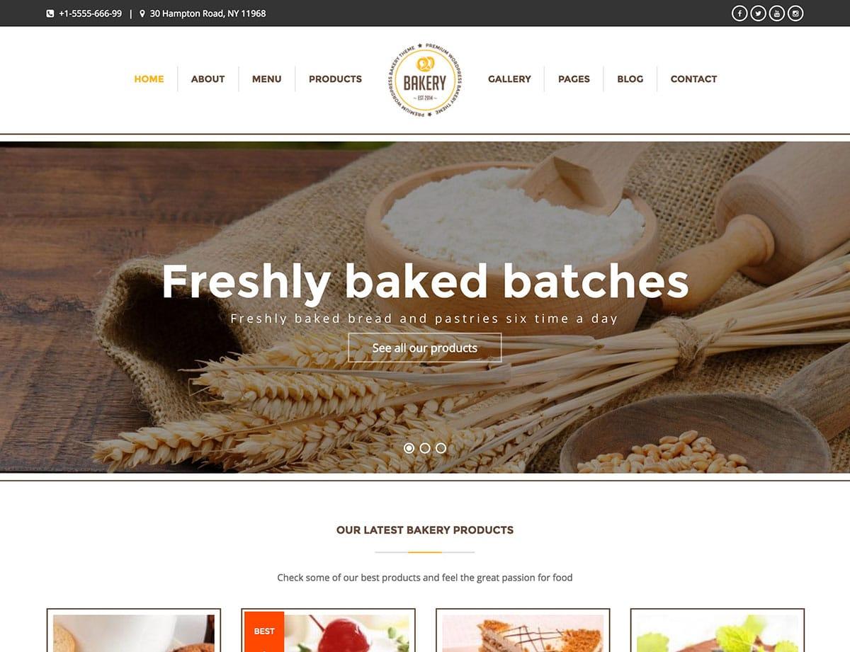 Bakery-1 - 30+ Amazing Bakeries WordPress Themes [year]