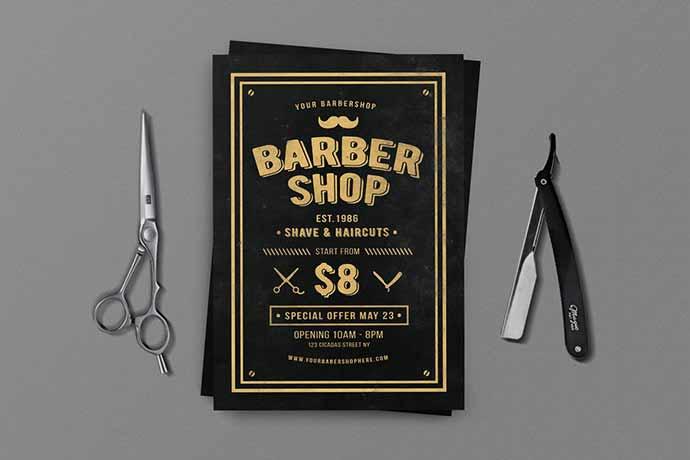 Barbershop-Flyer-PSD-Templates