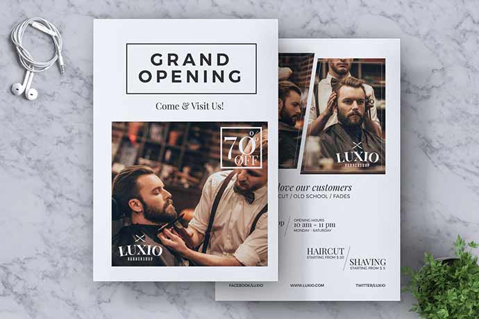 Barbershop-Grand-Opening - 31+ Impressive Barbershop Flyer PSD Templates [year]