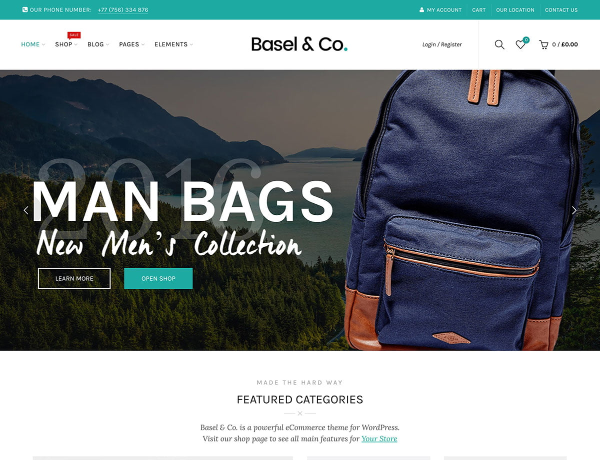Basel - 41+ Top WordPress Themes For Woocommerce [year]