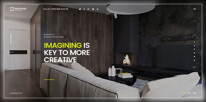 Bauhaus - 36+ Top Quality WordPress Themes For Interior Design [year]