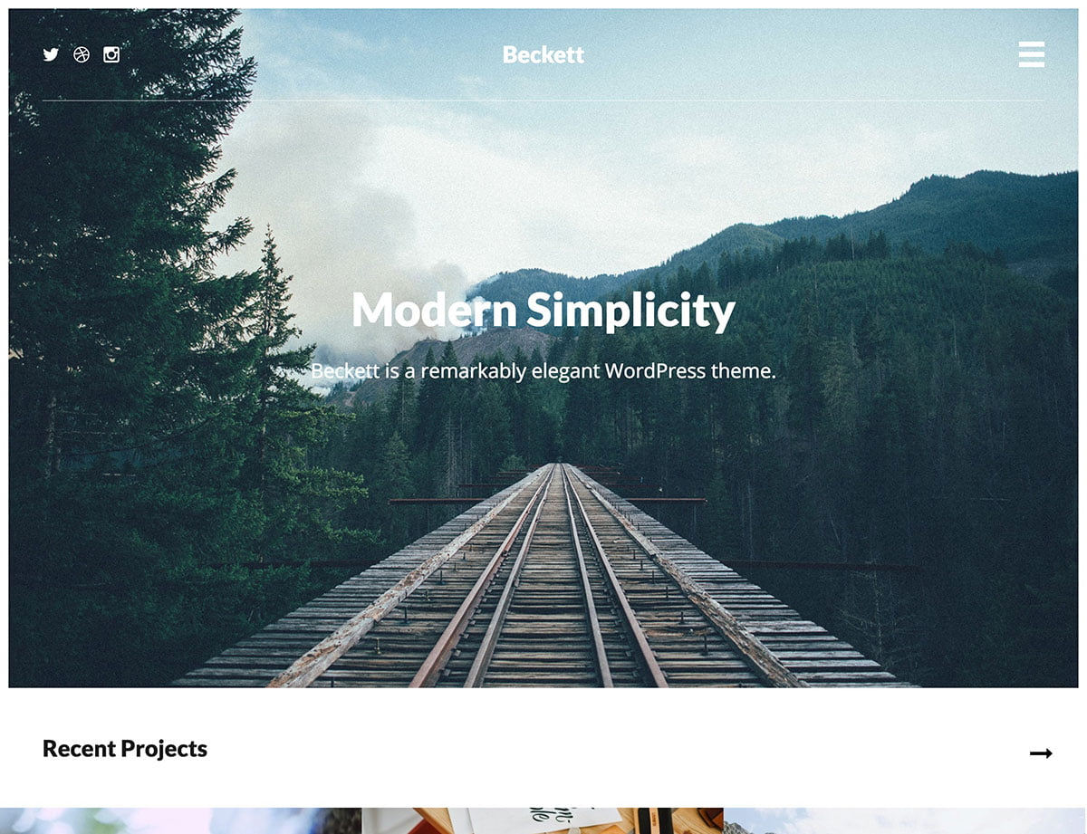 Beckett - 40+ Awesome WordPress Themes For Creative Agency [year]