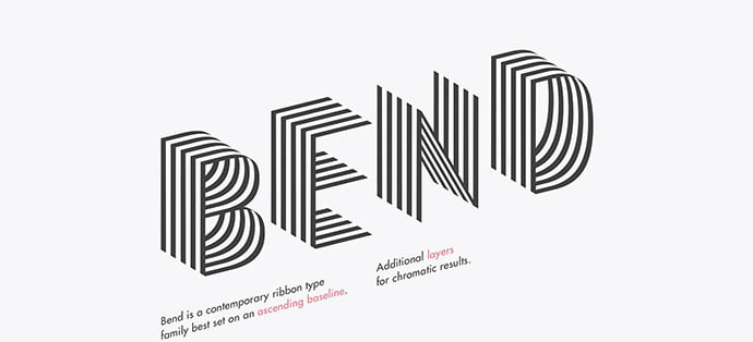 Bend-Typeface - 31+ Amazing Free Double & Multi Line Fonts For Developer [year]