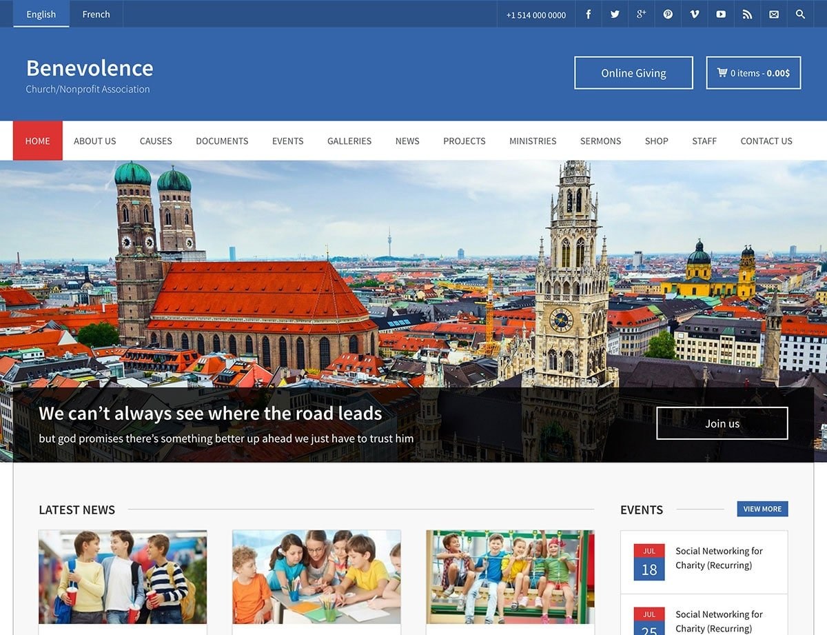 Benevolence - 36+ Amazing WordPress Themes For Non-Profit, Charity [year]