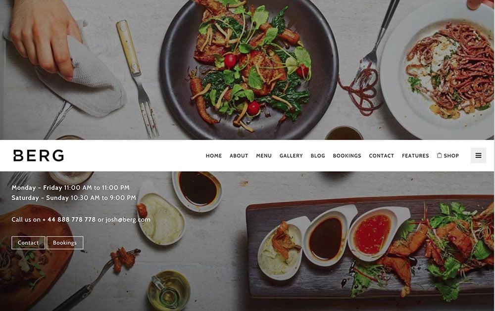 Berg - 50+ Nice WordPress Themes For Restaurant [year]