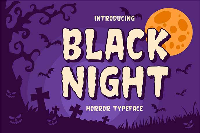 Black-Night - 31+ Amazing Game Title Fonts For Developer [year]