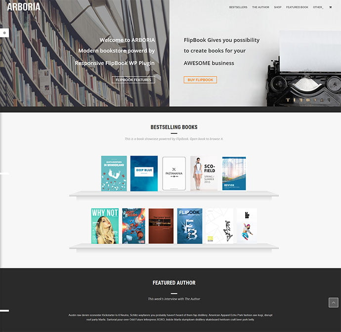 Blaszok - 31+ Nice Librarian & Bookseller WordPress Themes [year]