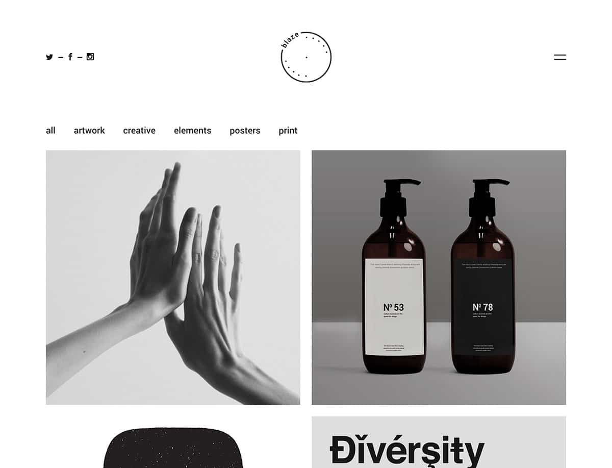 Blaze - 31+ Awesome WordPress Themes For Artists [year]