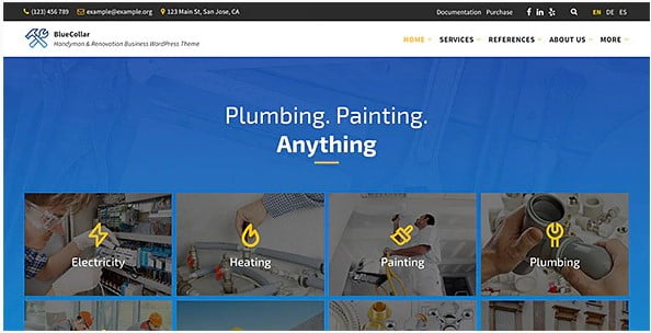 BlueCollar-1 - 36+ Awesome Plumbers WordPress Themes [year]