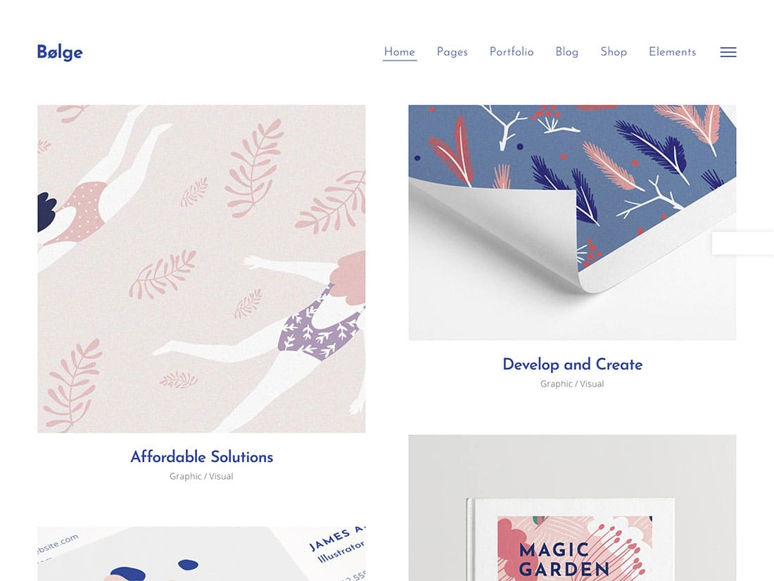 Bolge - 31+ Awesome WordPress Themes For Artists [year]