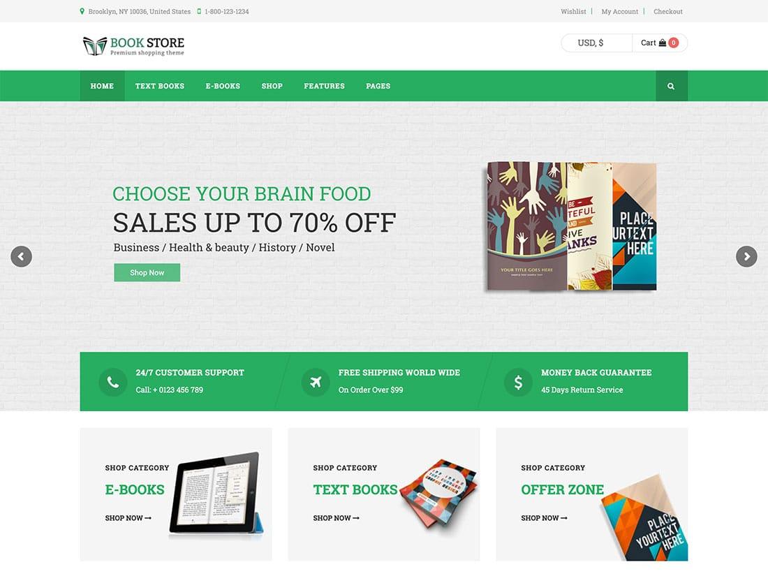 Book-Store - 36+ Nice Bookstore WordPress Themes [year]