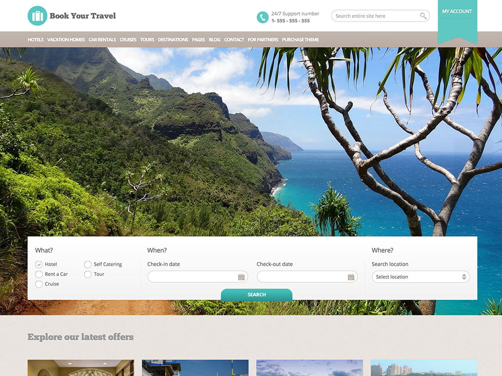 Book-Your-Travel-1 - 36+ Amazing Travel, Agencies, Hotels WordPress Themes [year]