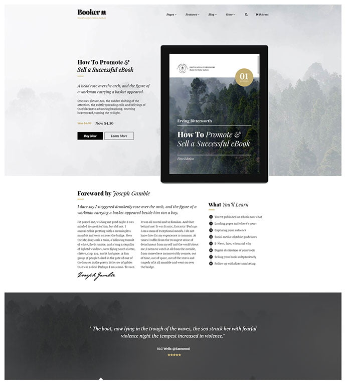 Booker - 31+ Nice Librarian & Bookseller WordPress Themes [year]