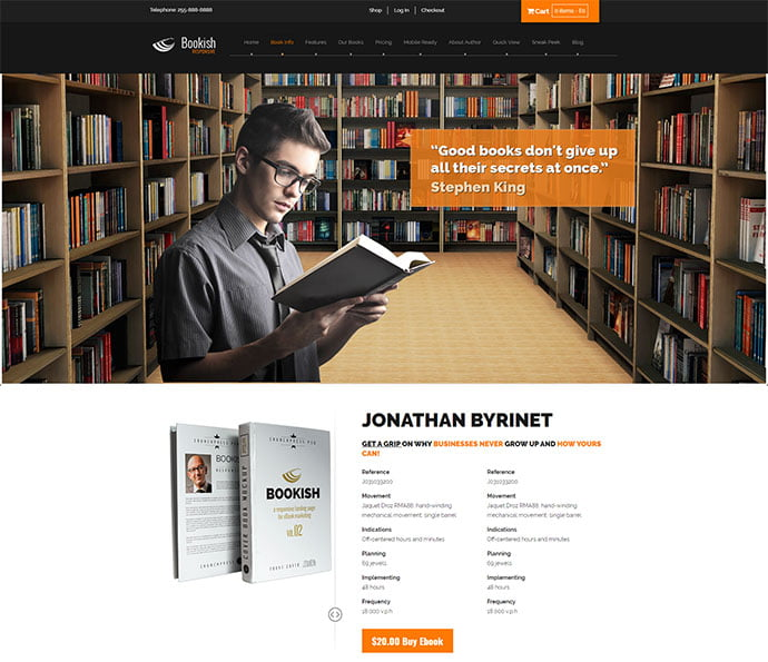 Bookish - 31+ Nice Librarian & Bookseller WordPress Themes [year]