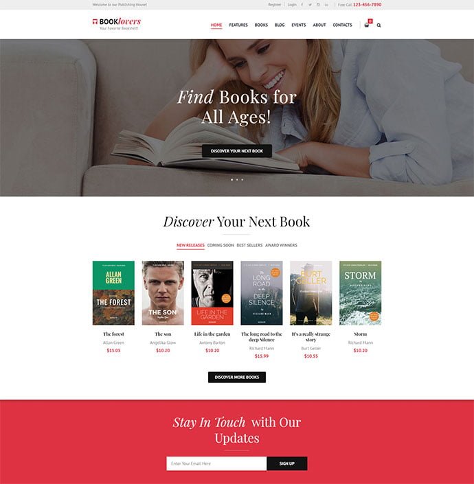 Booklovers - 31+ Nice Librarian & Bookseller WordPress Themes [year]
