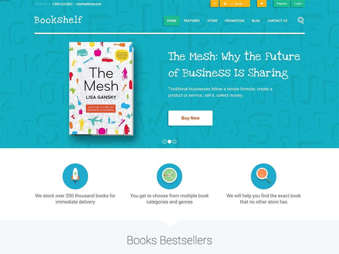 Bookshelf-2 - 36+ Awesome WordPress Digital Products Selling Themes [year]